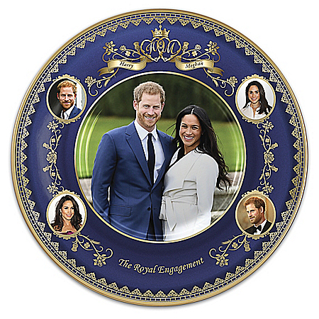 Prince Harry And Meghan Markle: The Royal Engagement Commemorative Heirloom Porcelain Collector Plate