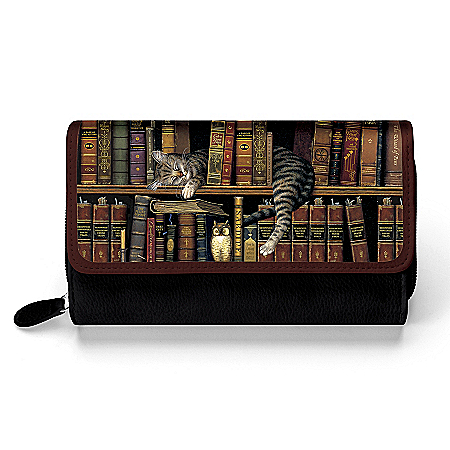 Classic Tails Women's Trifold Wallet Featuring Charles Wysocki Cat Art