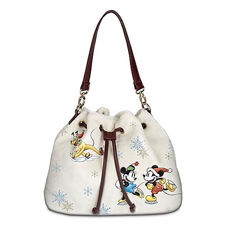 Disney Winter Wonderland Women's Fleece Fashion Handbag