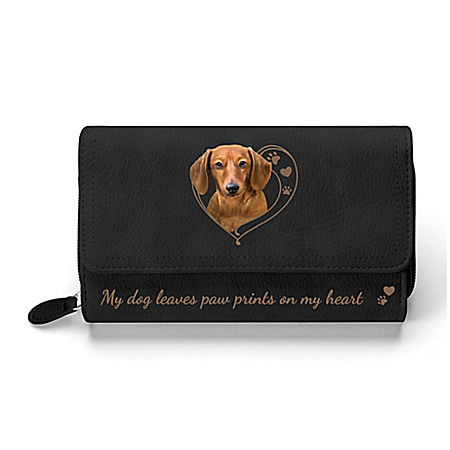 Paw Prints On My Heart Women's Dog-Themed Trifold Wallet