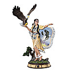 Ted Blaylock Spirit In The Wind Hand-Painted Sculpture
