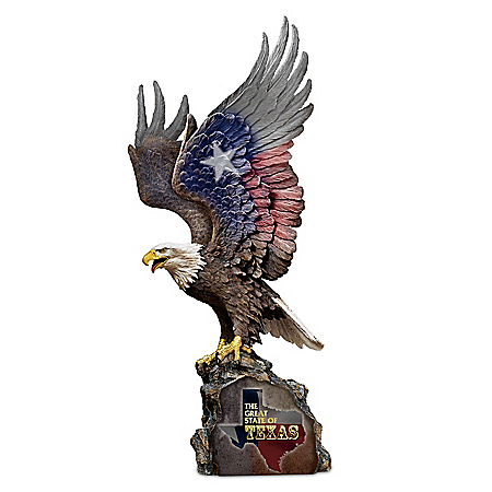Texas Pride Eagle Sculpture
