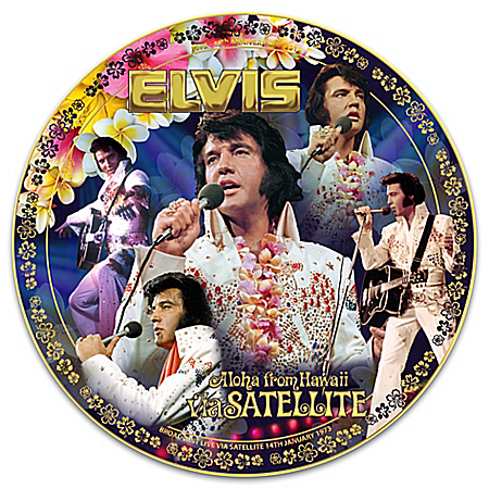 Elvis Presley Aloha from Hawaii Heirloom Porcelain Collector Plate: 1 of 2018