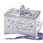 She Believed She Could So She Did Personalized Mirrored Music Box