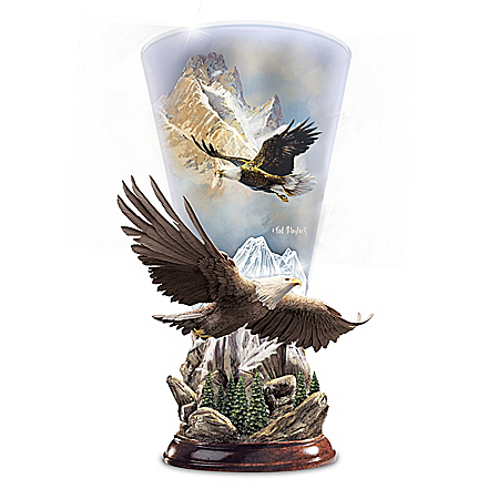 Ted Blaylock Mountain Majesty Sculpted Eagle Torchiere Lamp