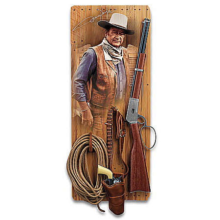 John Wayne: Western Icon Sculpted & Hand-Painted Wall Decor