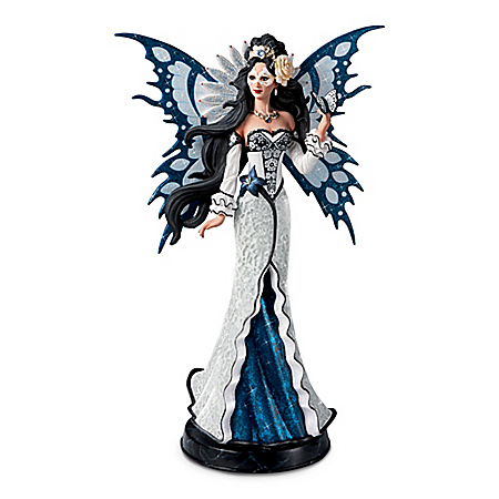 Nene Thomas Enchanted Twilight Glass Mosaic Fairy Sculpture