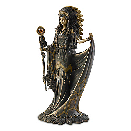 Heart Of A Great Spirit Sculpture With Tiger's Eye