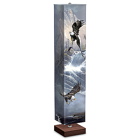 Ted Blaylock Glory Of Flight Eagle Art Floor Lamp