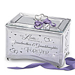 The Love Between A Grandmother And Granddaughter Personalized Mirrored Music Box
