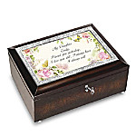 Daughter, I Love You Always Personalized Heirloom Music Box
