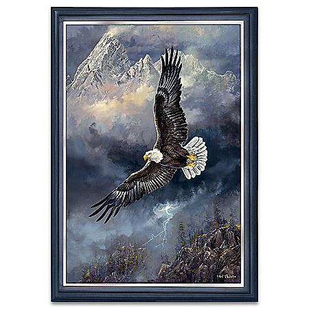 Ted Blaylock Force Of Nature Illuminated Eagle Art Wall Decor