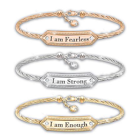 I Am 3-Piece Bracelet Set Celebrates Women Empowerment