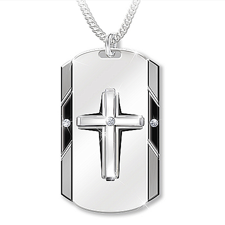 Bless My Husband Men's Personalized Religious Diamond Pendant Necklace – Personalized Jewelry