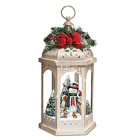 Thomas Kinkade Winter In A Wonderland Illuminated Lantern