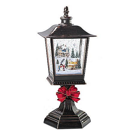 Thomas Kinkade Illuminated Musical Snowglobe Holiday Lantern