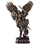 St. Michael Protect Us Military Cold-Cast Bronze Sculpture