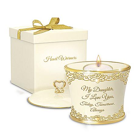 My Daughter, I Love You Forever Heirloom Porcelain Candleholder