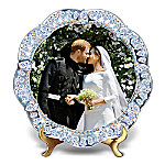 Prince Harry And Meghan Markle Royal Wedding Heirloom Porcelain Simulated Jeweled Collector Plate