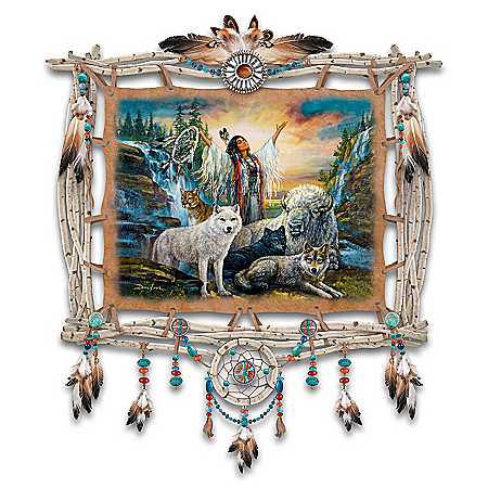 Russ Docken Spirit Calling Hand-Stretched Leather Wall Decor