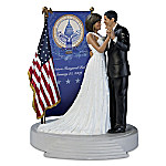 Barack & Michelle Obama Inaugural Ball 10th Anniversary Masterpiece Hand-Painted Tribute Sculpture