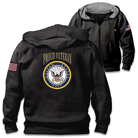 Veterans Pride Navy Men's Cotton-Blend Knit Hoodie