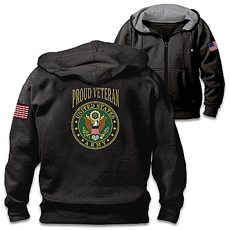 Veterans Pride Army Men's Cotton-Blend Knit Hoodie