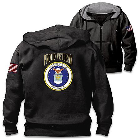 Veterans Pride Air Force Men's Cotton-Blend Knit Hoodie
