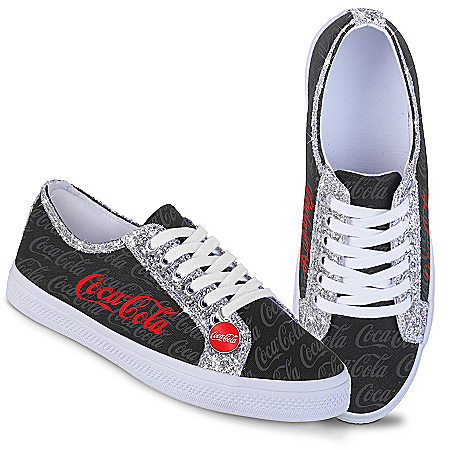 COCA-COLA Ever-Sparkle Canvas Shoes With Glitter Trim