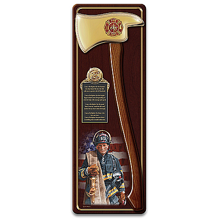 Glen Green A Hero's Tribute Firefighter Pick Axe Wall Decor