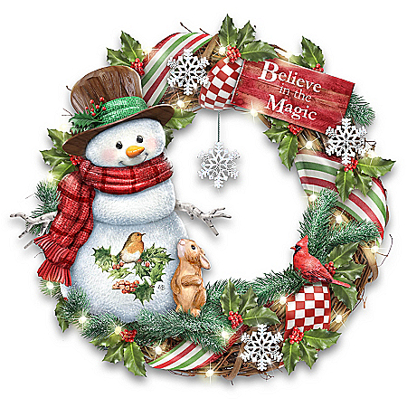 Marjolein Bastin Believe In The Magic Lighted Holiday Wreath
