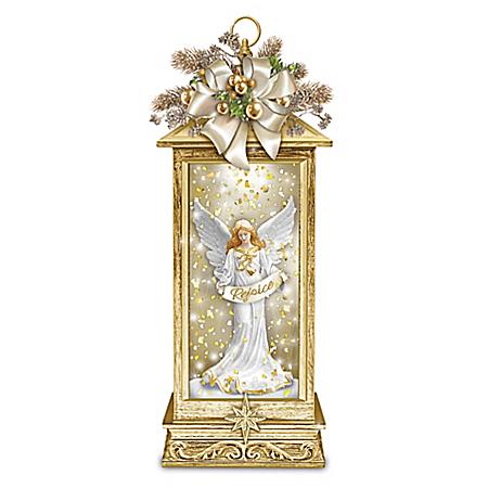 The Joy Of Inspiration Illuminated Angel Snowglobe Lantern