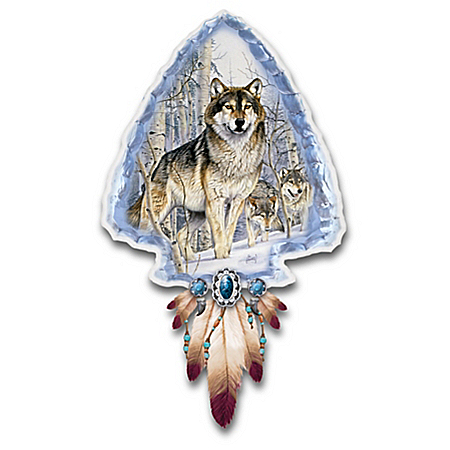 Al Agnew Mystic Spirit Illuminated Wolf Art Wall Decor
