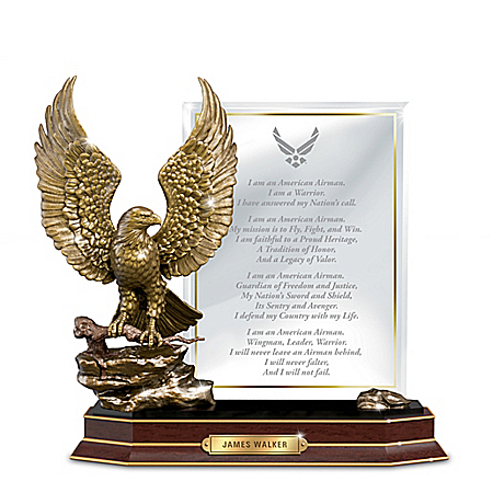 Air Force Honor Personalized Eagle Sculpture