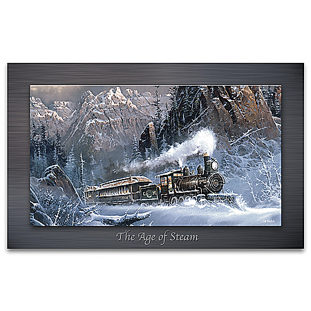 The Age Of Steam Metal Print Train Wall Decor