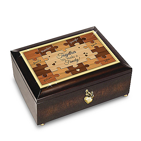 Together, We're A Family Heirloom Personalized Music Box