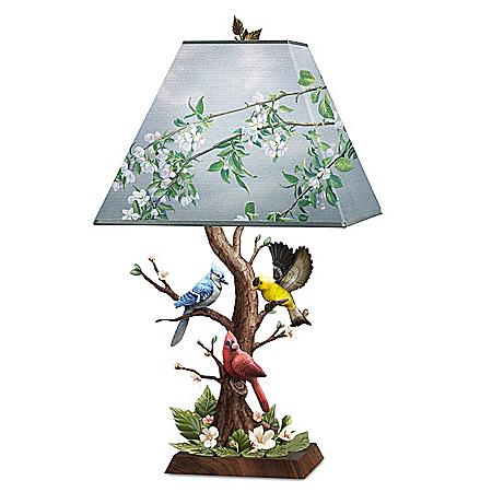 James Hautman Joyous Gathering Sculpted Songbird Accent Lamp