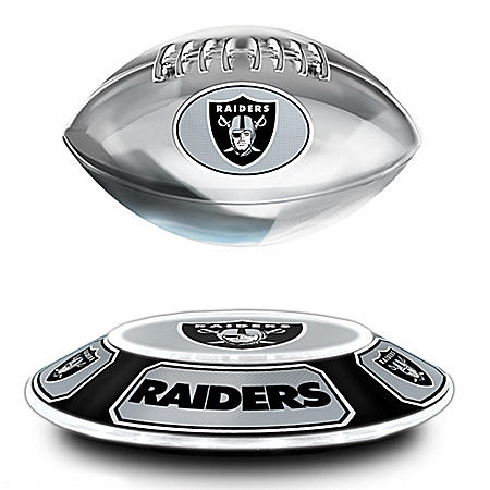 Raiders Levitating NFL Football Sculpture