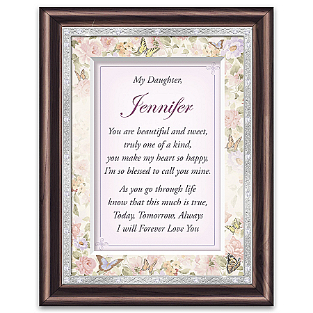 Daughter, I Love You Personalized Poem Frame