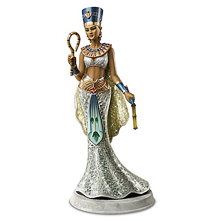 Nefertiti: Queen Of Egypt Hand-Painted Sculpture