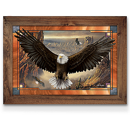 Ted Blaylock Wings Of Power Self-Illuminating Stained Glass Wall Decor