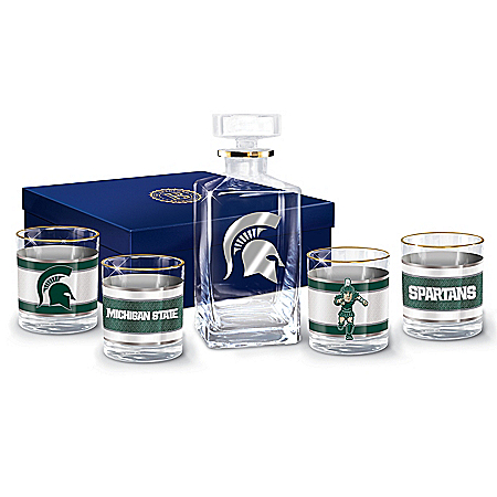 Michigan State University Spartans Legacy Glassware Set