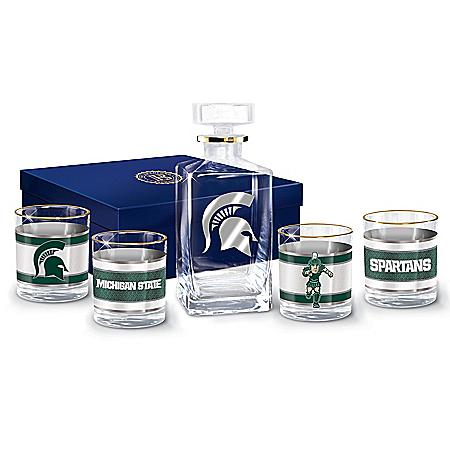 Michigan State University Spartans Legacy Glassware Set