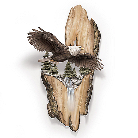 Vision Of Majesty Fully Dimensional Hand-Painted Eagle Wall Decor
