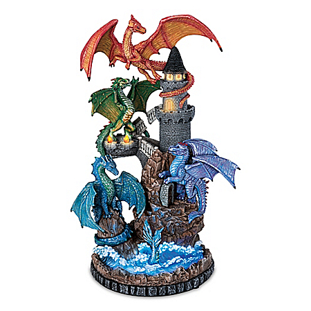 Protectors Of The Keep Handcrafted Dragon Sculpture