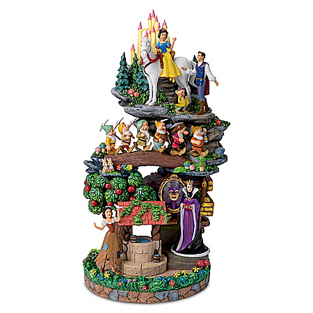 Disney Snow White And The Seven Dwarfs Hand-Painted Sculpture
