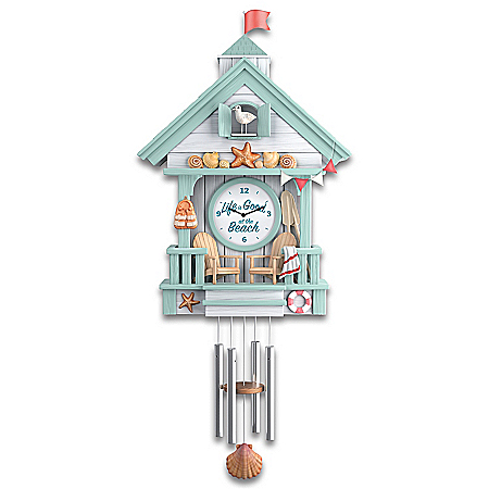 Life Is Good At The Beach Sculptural Cuckoo Clock