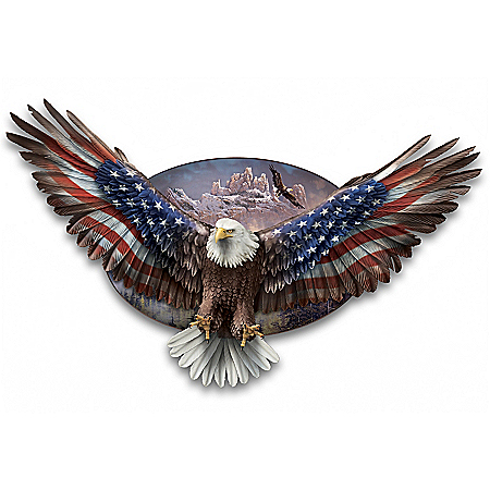 Ted Blaylock Wings Of Freedom Patriotic Eagle Wall Decor