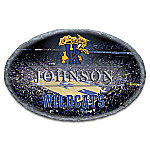 University Of Kentucky Wildcats Personalized Handcrafted Weathered Stone Welcome Sign