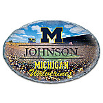 University Of Michigan Wolverines Personalized Handcrafted Weathered Stone Welcome Sign